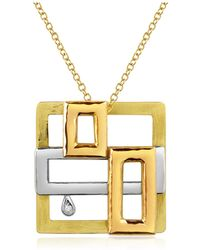 Torrini - Cubisme Diamond 18k Gold Pendant Necklace - Lyst