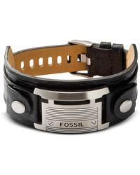 Fossil - Wide Vintage Casual Men's Bracelet - Lyst