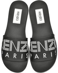f6dc318a Men's KENZO Leather sandals Online Sale - Lyst