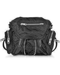 Alexander Wang - Mini Marti Black Aw Jacquard Logo Backpack - Lyst