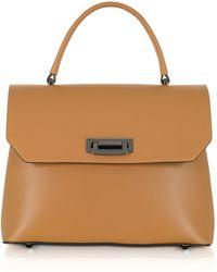Le Parmentier - Lutece Medium Cognac Leather Top Handle Satchel Bag - Lyst