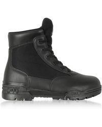 Hi-Tec - Magnum 6 Classic Black Mesh And Leather Unisex Boots - Lyst