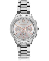Karl Lagerfeld - Optick Reloj Cronógrafo para Mujer de Acero Inoxidable - Lyst