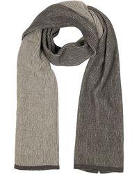 Mila Schon - Beige/brown Stripe Wool Blend Long Scarf - Lyst