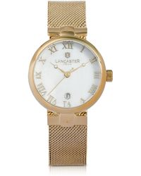 Lancaster - Chimaera Yellow Gold Stainless Steel Watch - Lyst