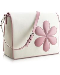 Pineider - Pink Flower Messenger Changing Bag - Lyst