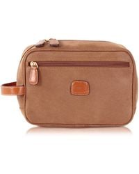 Bric's - Life - Camel Micro Suede Travel Case - Lyst