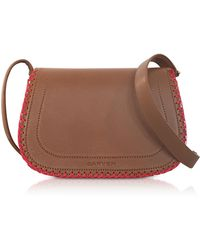 Carven - Mazarine Toscane Brown Leather Crossbody Bag - Lyst