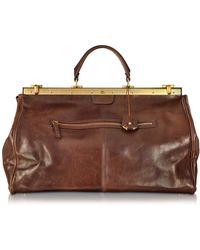 The Bridge - Story Viaggio Marrone Leather Travel Bag - Lyst