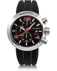 LOCMAN - Change Stainless Steel Round Case Men's Chronograph W/ Silicone & Leather Straps - Lyst