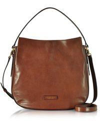 The Bridge - Florentin Brown Leather Shoulder Bag - Lyst