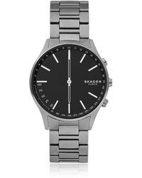 Skagen - Holst Titanium And Dark Grey Link Smartwatch - Lyst