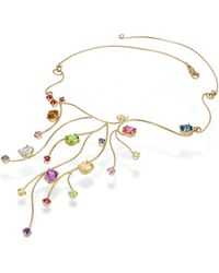 FORZIERI - 18k Yellow Gold Multi-gemstones Necklace - Lyst