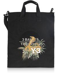 Y-3 - Black Signature Print Tote Bag - Lyst