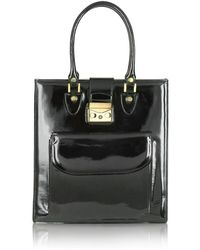 L.A.P.A. - Black Patent Leather Tote Bag - Lyst