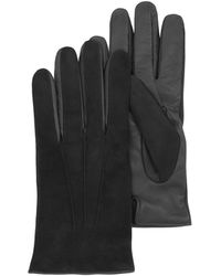 FORZIERI - Black Touch Screen Leather Men's Gloves - Lyst