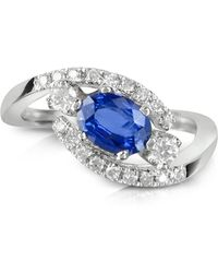 FORZIERI - Sapphire And Diamond 18k White Gold Ring - Lyst