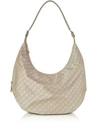Gherardini - Clay Signature Fabric And Leather Softy Shoulder Bag - Lyst