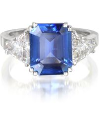 FORZIERI - Sapphire And Diamond White Gold Ring - Lyst