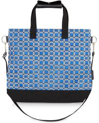 Maison Kitsuné - All Over Rectangle Printed Nylon Tote Bag - Lyst