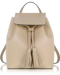 Le Parmentier - Nude Leather Backpack - Lyst