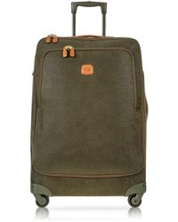 Bric's - Life Olive Green Micro Suede Large Trolley - Lyst