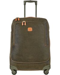 Bric's - Life Olive Green Micro Suede Medium Trolley - Lyst