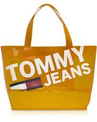 Tommy Hilfiger - Tommy Transparent Tote Bag - Lyst