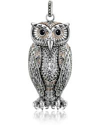 Thomas Sabo - Rebel Icon Sterling Silver Owl Pendant W/cubic Zirconia - Lyst