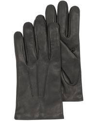 FORZIERI - Black Leather Handmade Men's Gloves W/wool Lining - Lyst
