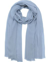 Marina D'este - Solid Wool & Cashmere Pashmina - Lyst
