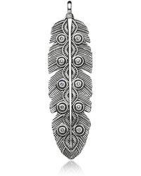 Thomas Sabo - Rebel Icon Sterling Silver Ethno Feather Pendant w/Cubic Zirconia - Lyst
