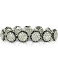 Azhar - Two Tone Cubic Zirconia & Sterling Silver Bracelet - Lyst