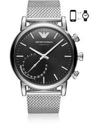 Emporio Armani - Art3007 Luigi 43 Hybrid Se1 Men's Smartwatch - Lyst