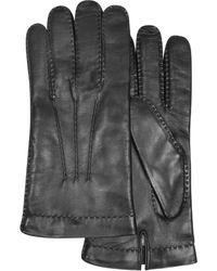 FORZIERI - Schwarze Herrenhandschuhe aus italienischem Leder - Lyst