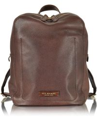 The Bridge - Plume Dark Brown Leather Men's Backpack - Lyst