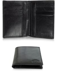 The Bridge - Story Uomo Dark Brown Leather Men's Vertical Wallet - Lyst