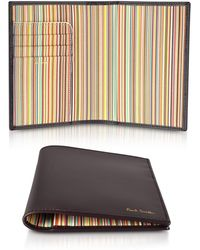 Paul Smith - Burgundy Leather Passport Cover - Lyst