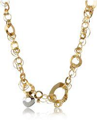 Orlando Orlandini - Fashion - Diamond 18k Rose Gold Chain Necklace - Lyst
