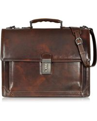 L.A.P.A. - Cristoforo Colombo Collection Leather Briefcase - Lyst