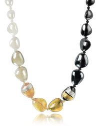 Antica Murrina | Moretta Pastel Glass Beads W/24kt Gold Leaf Necklace | Lyst