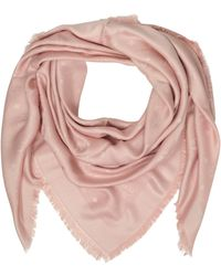MCM - Pink Signature Jacquard Wool And Silk Wrap - Lyst