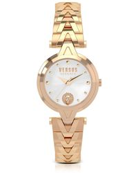 Versus - V Versus Rose Gold Tone Stainless Steel Women's Bracelet Watch - Lyst