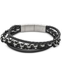 Fossil - Jf02937040 Vintage Casual Men's Bracelet - Lyst