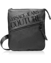 e71dcfc7c Versace Jeans Black Logo Print Messenger Bag in Black for Men - Lyst