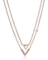 Fossil - Jf02897791 Fashion Women's Necklace - Lyst