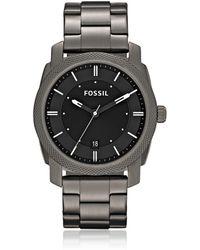 Fossil - Machine Smoke Stainless Steel Watch - Lyst