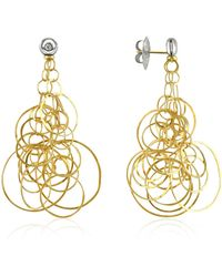 Orlando Orlandini - Scintille - Diamond 18k Gold Drop Earrings - Lyst