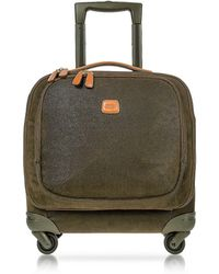 Bric's - Life Olive Green Micro Suede Small Pilot Cabin Spinner - Lyst