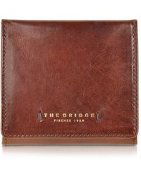 The Bridge - Dark Brown Leather Wallet W/coin Pocket - Lyst